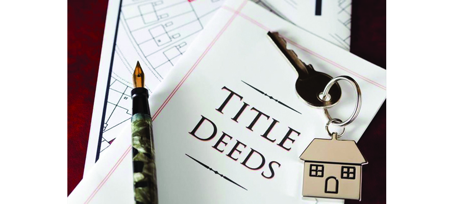 CHANGES TO THE PROCEDURE TO BE ADOPTED WHEN A TITLE DEED OR BOND HAS BEEN LOST